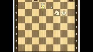 Уроки шахмат - Ладья и конь против ладьи