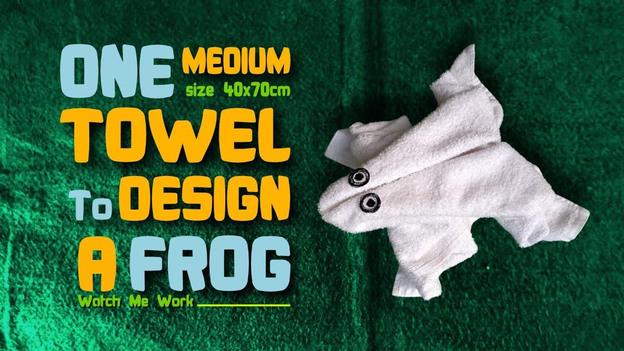 Towel design tutorial - One medium towel to design a Frog #1