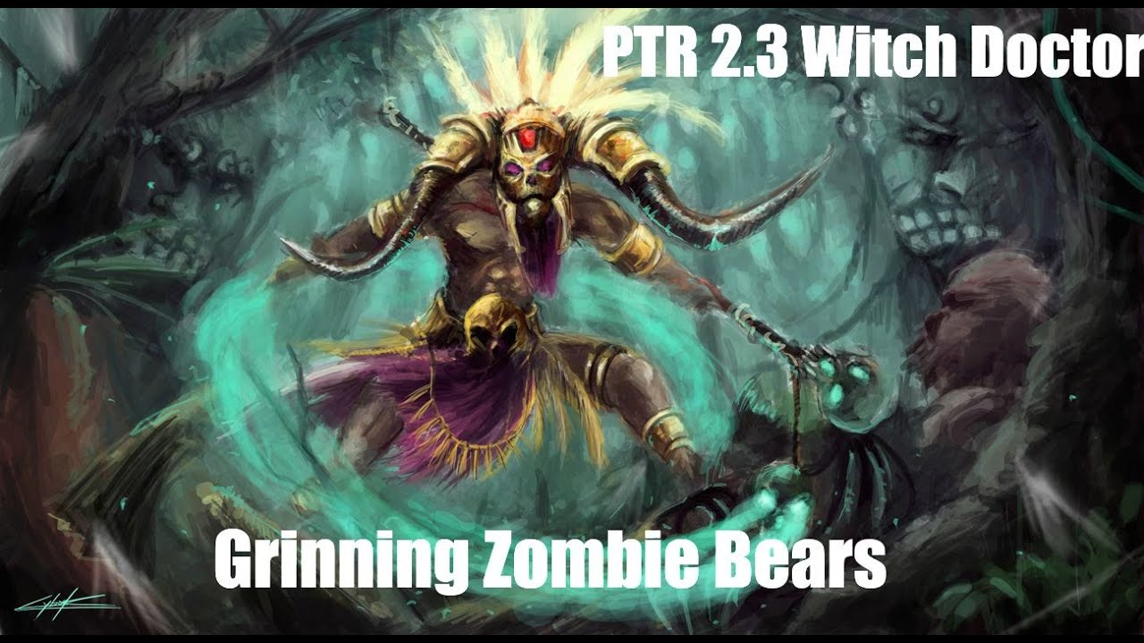Diablo 3 ptr 2 3 witch doctor grinning zombie bears for Zombie build