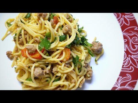 😋 Healthy Ground Turkey Spaghetti With Veggies   Turkey Spaghetti Recipe   How To Make   Sloyi Legu