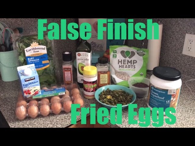 Wise Eats - False Finish Fried Eggs - Healthy Scrambled Egg Breakfast Recipe