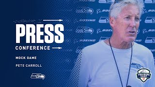 Seahawks Head Coach Pete Carroll Mock Game Press Conference
