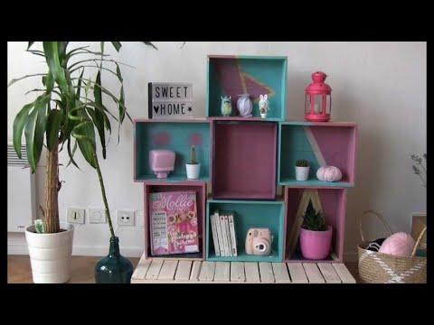 comment fabriquer une biblioth que avec des caisses vin youtube. Black Bedroom Furniture Sets. Home Design Ideas