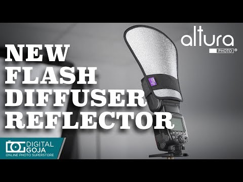 The Most Versatile Flash Diffuser Reflector   Two-Sided Silver/White of Speedlight Light Reflector
