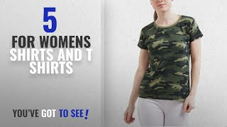 Top 10 For Womens Shirts And T Shirts 2018 WYO Women 39 s Camouflage Army Military Short Sleeve Top