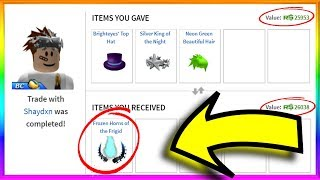 I Got the BEST HORNS On Roblox!! (Roblox Trading)