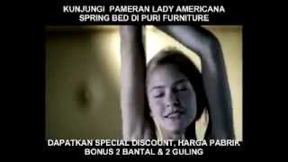 PAMERAN IN STORE PROMO LADY AMERICANA SPRING BED DI PURI FURNITURE PURI MEBEL INTERIOR