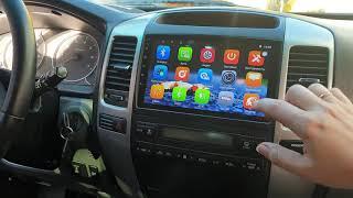 Обзор установленной магнитолы для Toyota Prado 120 (2002-2009) Android 8, память 2+32