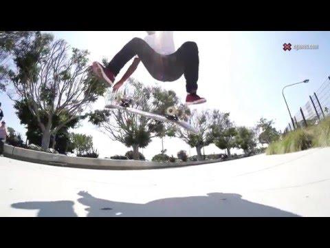 X Games Trick Tips -- Theotis Beasley frontside heelflip