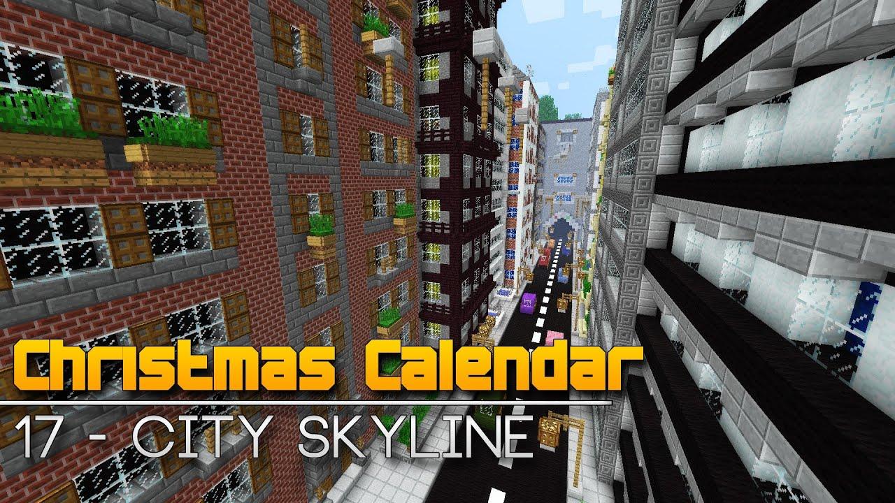 Christmas Calendar Minecraft Download : Christmas calendar city skyline minecraft parkour