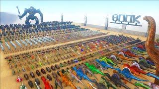 1000 Robots VS 1000 Dinosaurs - 800K SPECIAL  ARK