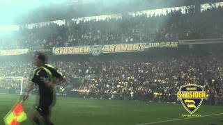 Sydsiden Sangtekst: Yellow Blue Army (Sid Ned)