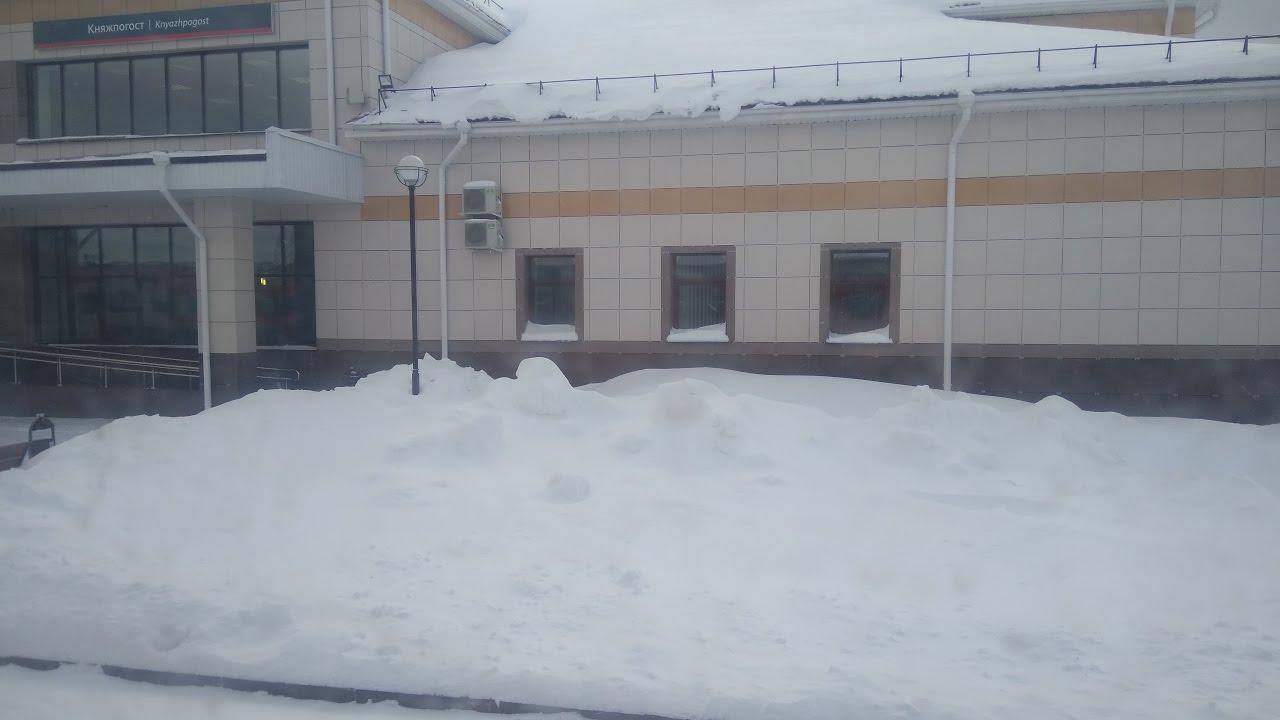 Княжпогост 2017 Поезд из Воркуты Россия из окна поезда