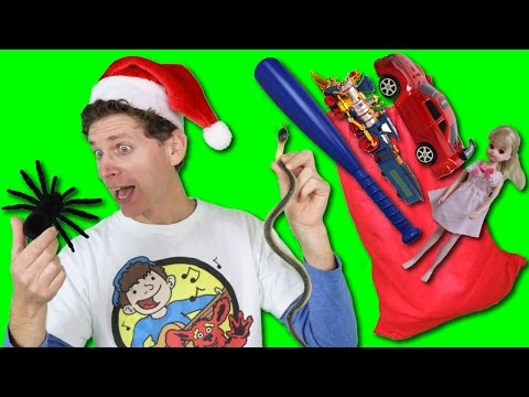 What's In The Christmas Bag? Song with Matt | Toys and Snakes? | Learn English Kids