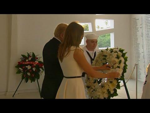 Trump Lays Wreath at Pearl Harbor Memorial
