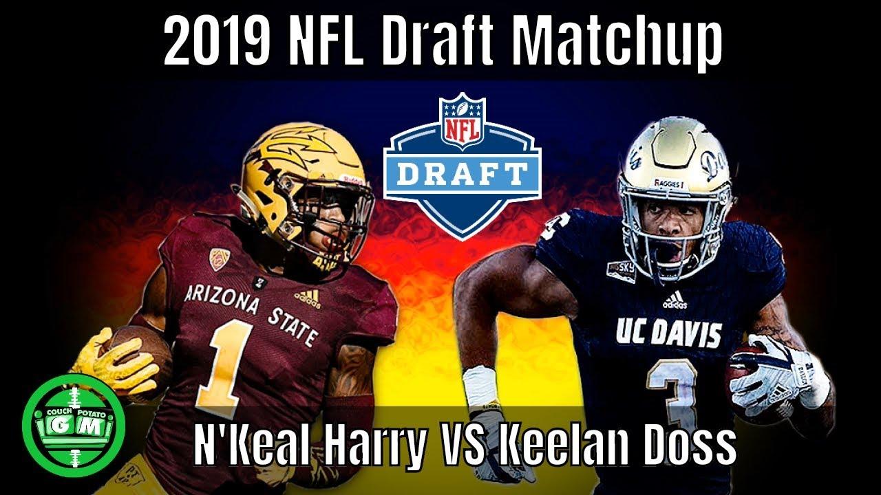 buy popular 349f5 1e481 N'Keal Harry vs Keelan Doss Matchup | 2019 NFL Draft Debate | CPGM