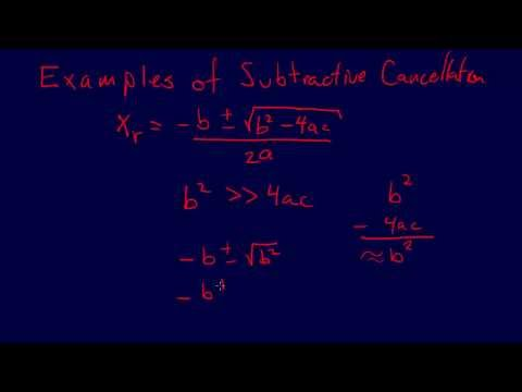 1.3.5-Modeling & Error: Examples--Subtractive Cancellation