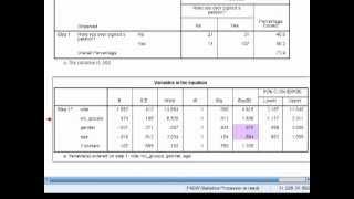 SPSS Tutorials: Binary Logistic Regression