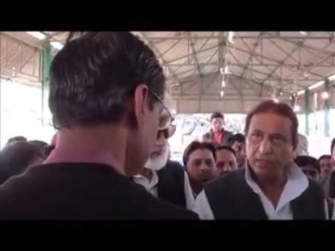 Azam khan angry on district magistrate during receive his winning certificate