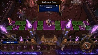 Might and Magic Heroes 7 Gameplay - Siege Sylvan vs Dungeon