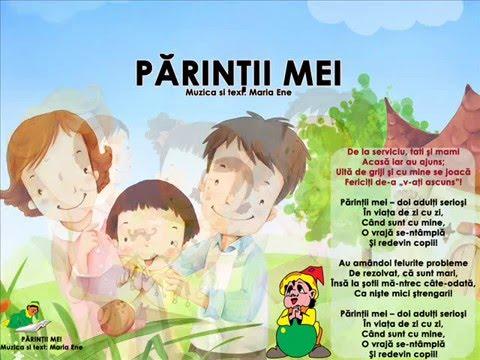 PĂRINȚII MEI – Cantece pentru copii in limba romana
