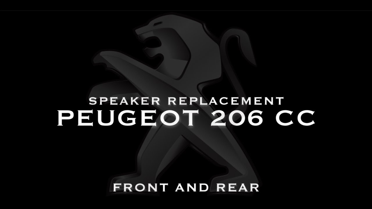 Speaker Replacement For Peugeot 206 Cc Front Rear Youtube Tweeter Wiring Diagram