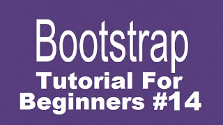 bootstrap Tutorial For Beginners 14 - Adding Glyphicons in Bootstrap