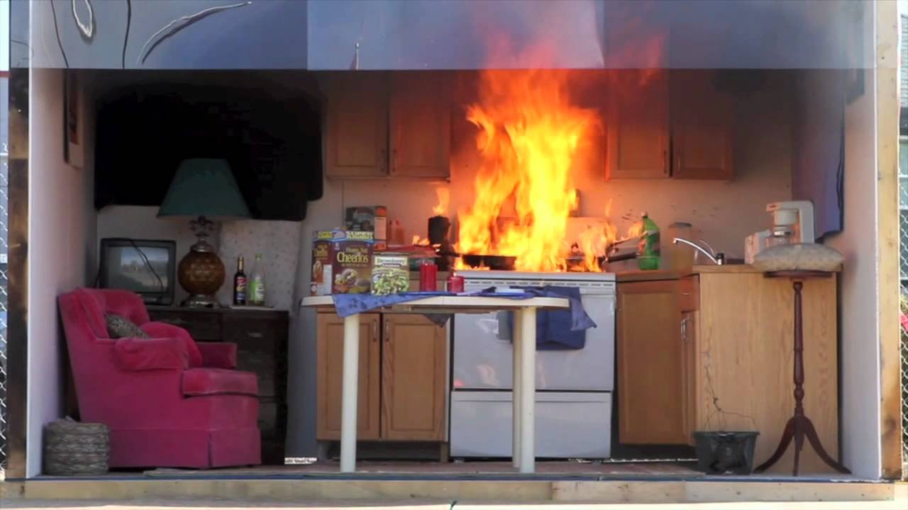 Of Kitchen Demonstration Underscores The Danger Of Kitchen Fires Youtube