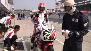 Suzuka 8hours Endurance Special: Honda Team Asia pit stop practice during warm-up