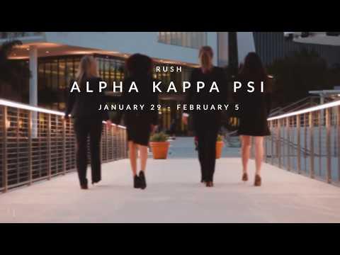 UMiami Alpha Kappa Psi Spring 2018 Rush