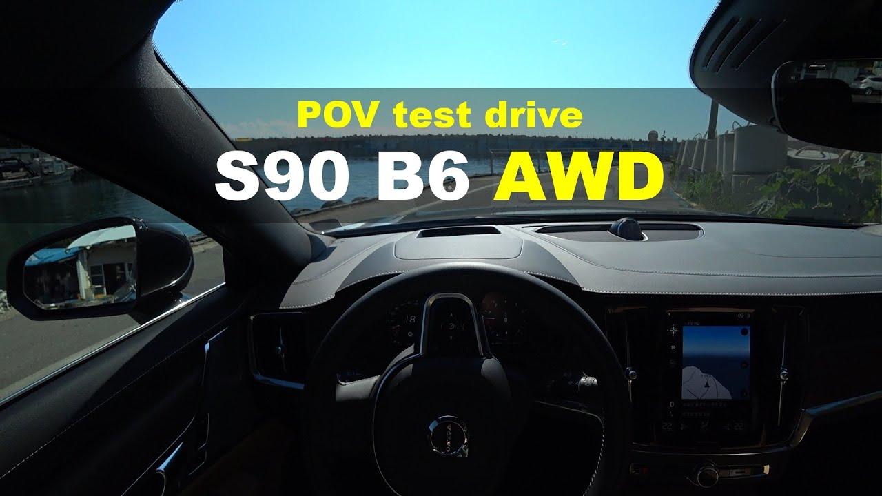 2021 Volvo S90 B6 AWD Inscription POV test drive
