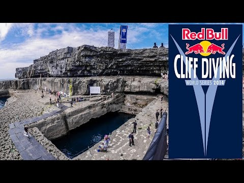 Red Bull Cliff Diving at the Serpent's Lair, Inis Mór, Aran Islands, Ireland ~ 29th June 2014