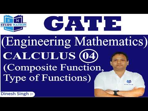 GATE Engineering Maths: Calculus 04 :Composite function and Type of Functions