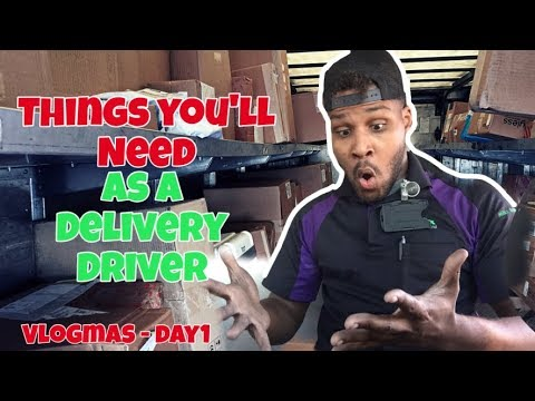 THINGS YOU'LL NEED AS A DELIVERY DRIVER | VLOGMAS DAY 1