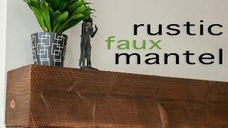 DIY Rustic Faux Mantle // Shou Sugi Ban Beam Mantel