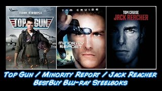 Top Gun / Minority Report / Jack Reacher - BestBuy Steelbooks | Unboxing