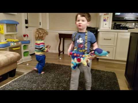After Dinner Singing and dancing with Beau and Flynn March 2017