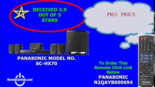 Review Panasonic DVD Home Theater System 5.1-Channel - SC-XH70