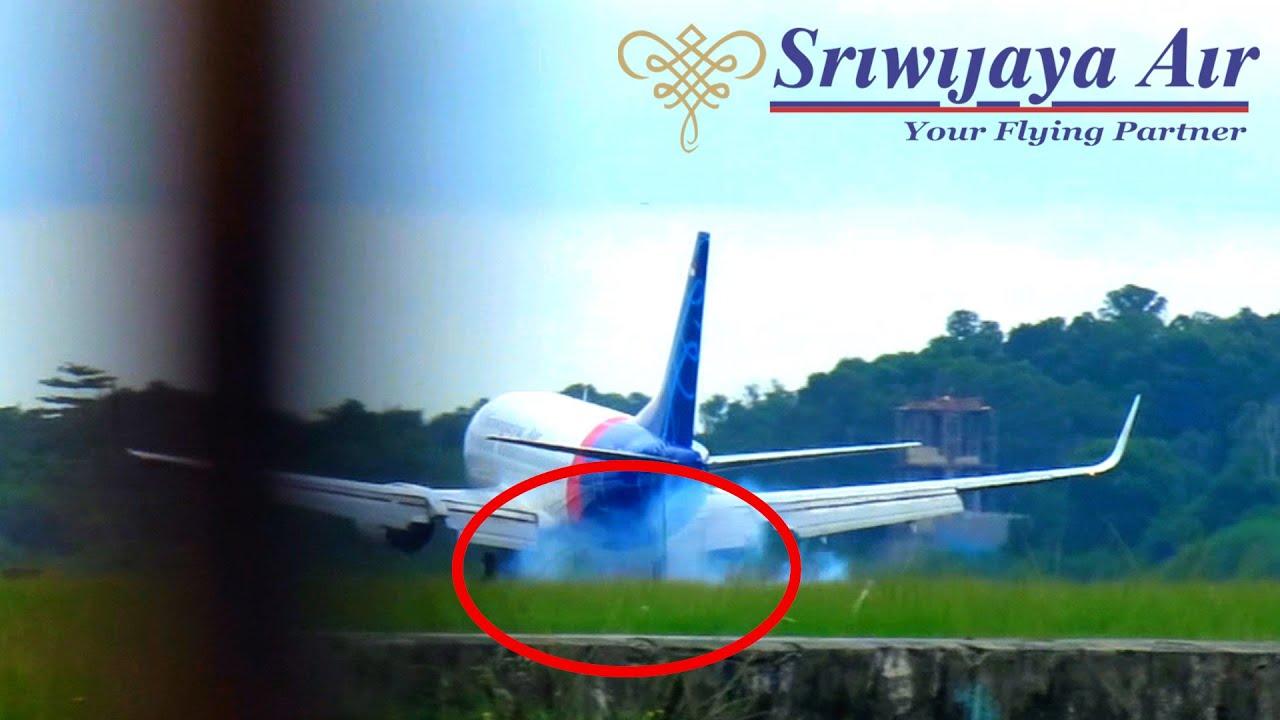 Pesawat Sriwijaya Air Landing (Video Pesawat Terbang ...