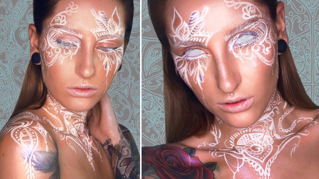 White Henna Art Inspired Makeup Tutorial Youtube