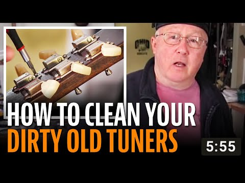 How to clean dirty old guitar tuners
