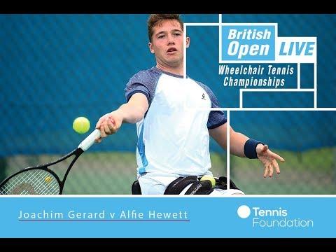 Joachim Gerard v Alfie Hewett   British Open Wheelchair Tennis 2017
