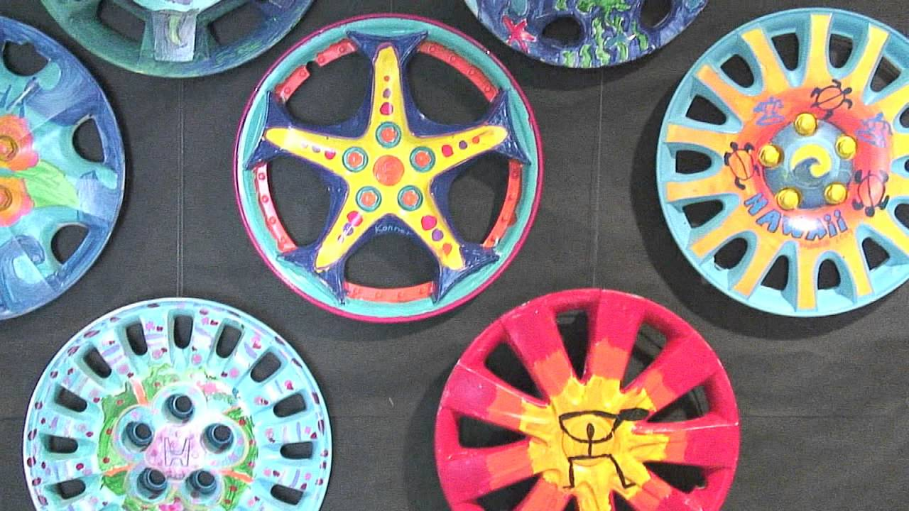 Island Pacific Academy Hubcap Art YouTube
