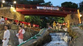 神戸・有馬温泉の夏の風物詩「有馬涼風川座敷」が、有馬川親水公園で開...