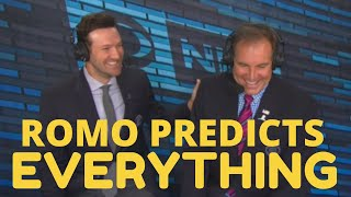 Tony Romo PREDICTS EVERY NFL Play