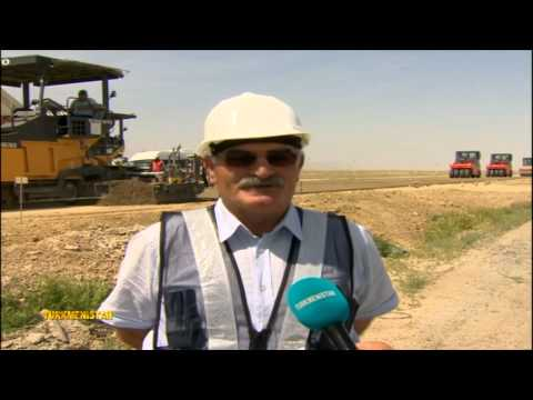 Eser Contracting - Turkmenistan Road Construction - as shown on local Watan TV