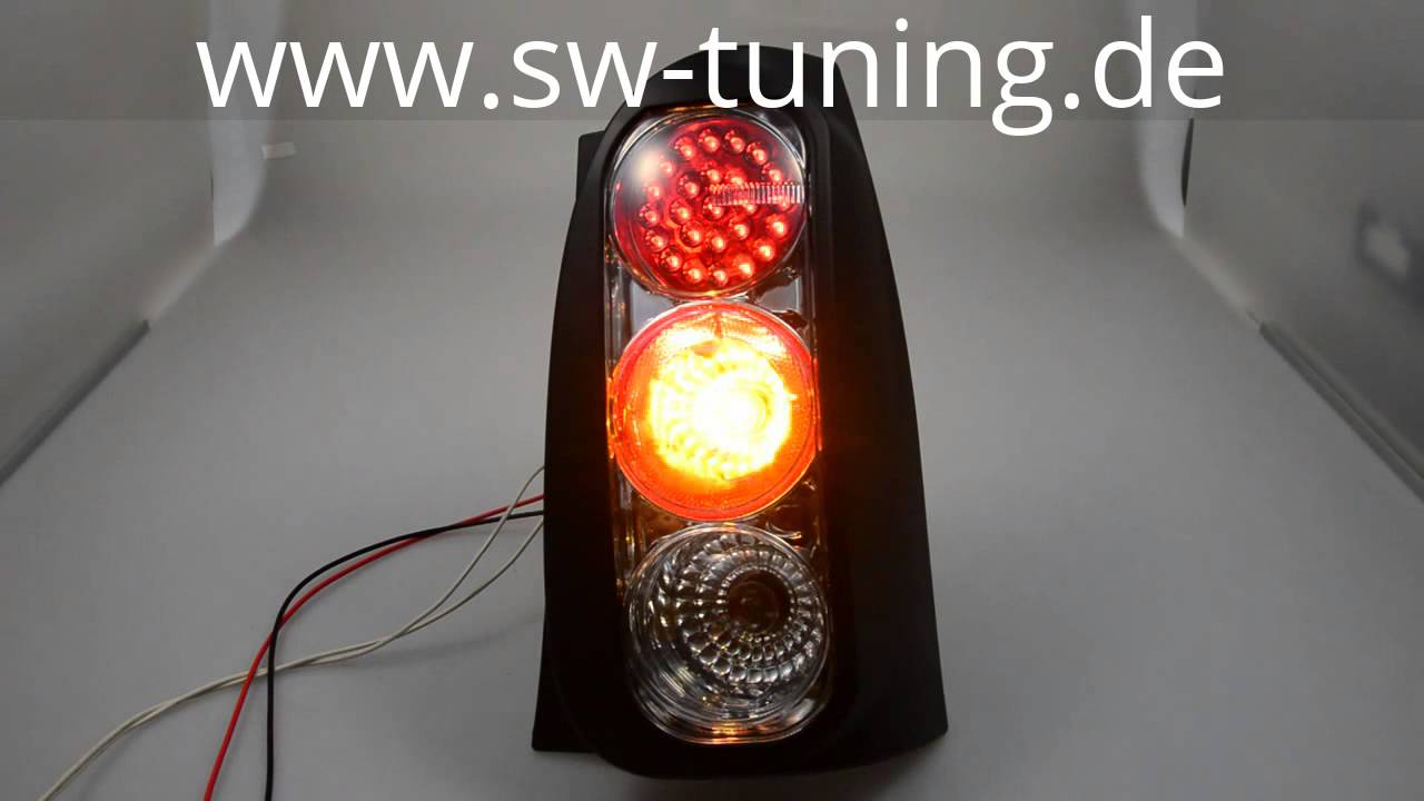 LED taillights Smart fortwo 450 2001-2007 black - tuning online kaufen