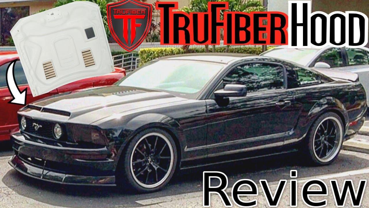 Trufiber A53 Gts 4 Ram Air Hood Review 05 09 Gt Mustang Hood Youtube