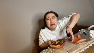 【生配信】丸山礼ぴょんの晩ご飯〜サーモンモッパン【먹방】【mukbang】【الكيمتشي 】【eatingsound 】