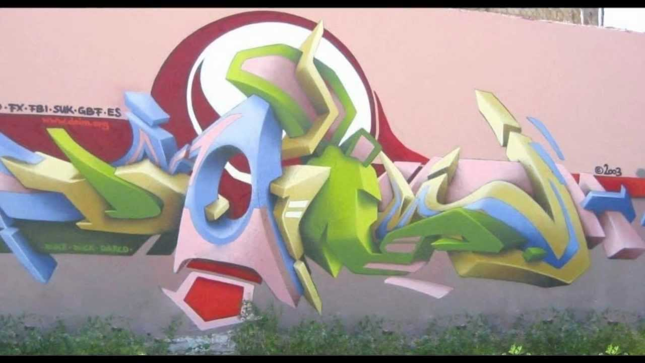 Daim 3d graffiti art by risanstyle youtube for 3d art maker online